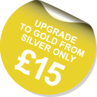 Upgrade to Gold service from Silver for only £15